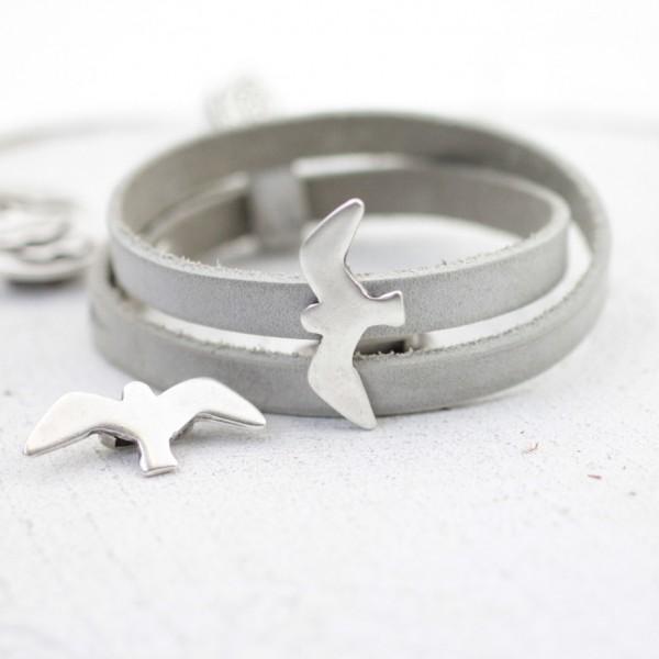 Metal Martı Boncuk, Gümüş Kuşlu Aparat
