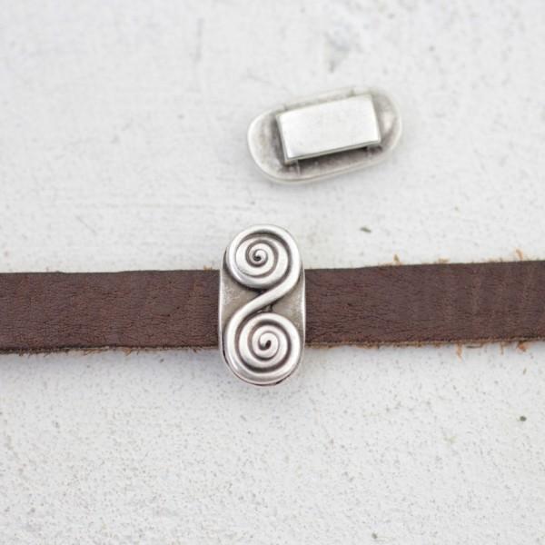 Metal Spiral Bileklik Boncuğu, Gümüş Spiral