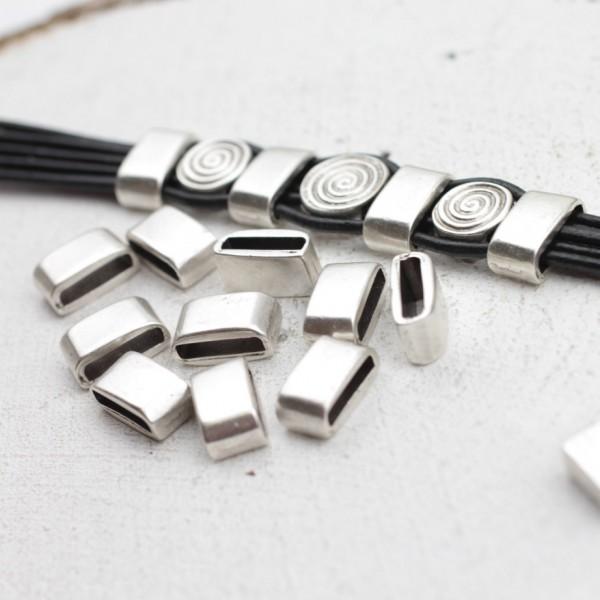 Metal Deri Bileklik Boncuğu, Gümüş Ara Boncuk